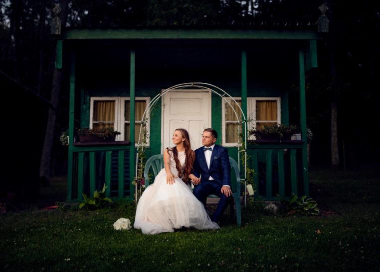 Sesja poślubna Pauliny i Krzyśka w Łężanach