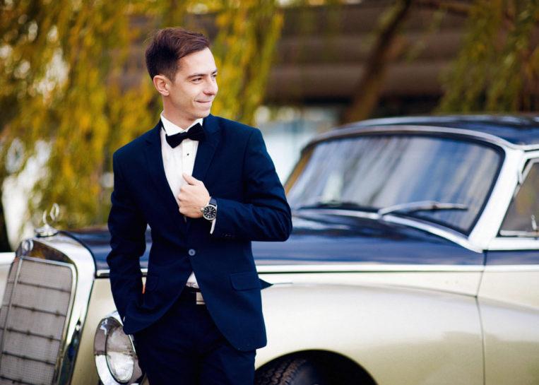 Portret Pana Młodego - Mercedes Club w Mrągowie