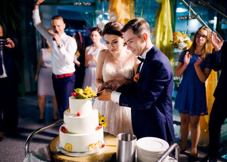 Tort weselny Magdy i Bartka - Mercedes Club w Mrągowie