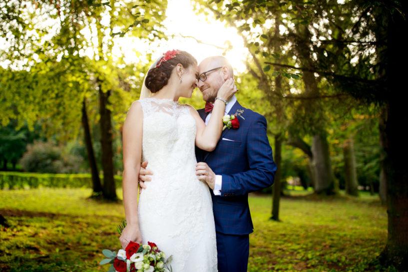Plener ślubny Kasi i Grześka - Park w Biskupcu