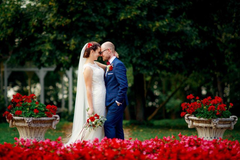 Plener ślubny Kasi i Grześka - sesja poślubna w Pałacu w Łężanach
