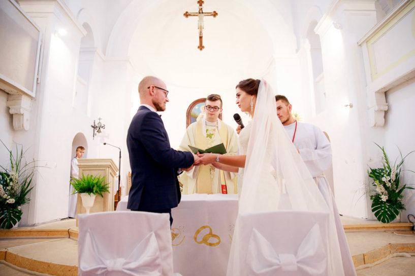 Ślub w Biskupcu - przysięga