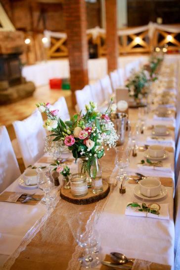 Detale sali weselnej w Gościńcu Molo w Mrągowie